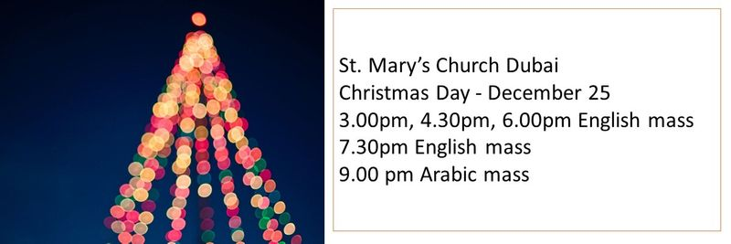St Mary's Church Christmas mass timings