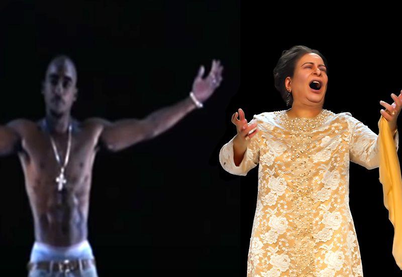 Tupac Shakur and Umm Kulthum