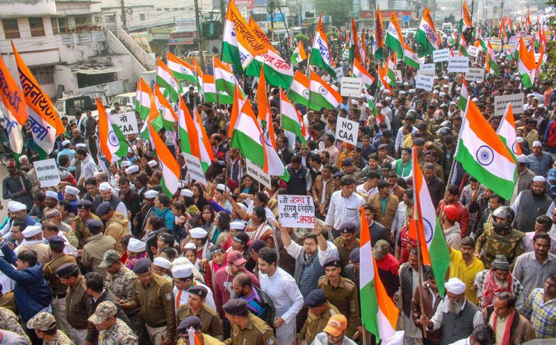 Pictures Anti Caa Protests Continue In Indian Cities News Photos Gulf News