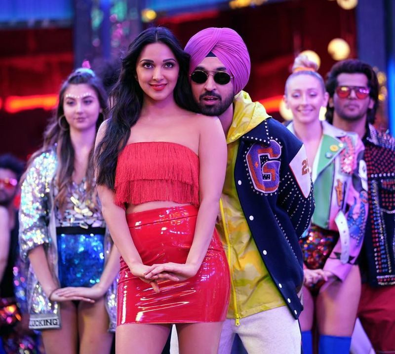 Kiara Advani and Diljit Dosanjh in Good Newwz