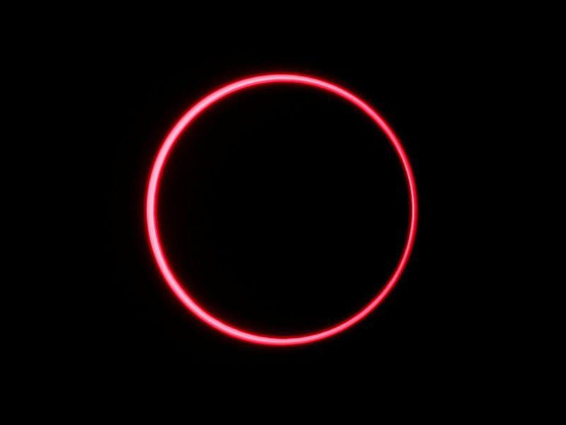 An annular solar eclipse is observed with the use of a solar filter, in Siak, Riau province, Indonesia.