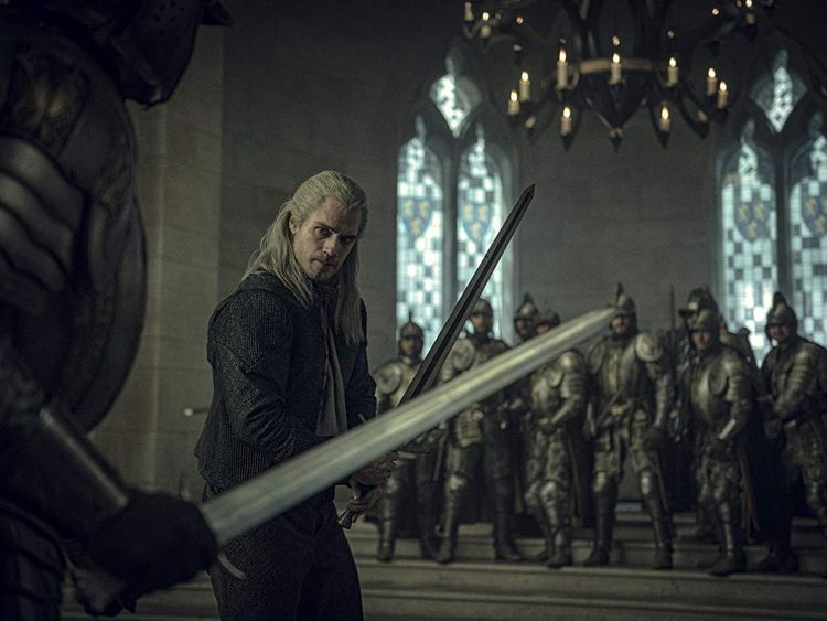 Henry Cavill in The Witcher (2019)-1577356527124