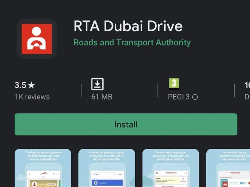 RTA virtual licence dubai drive app
