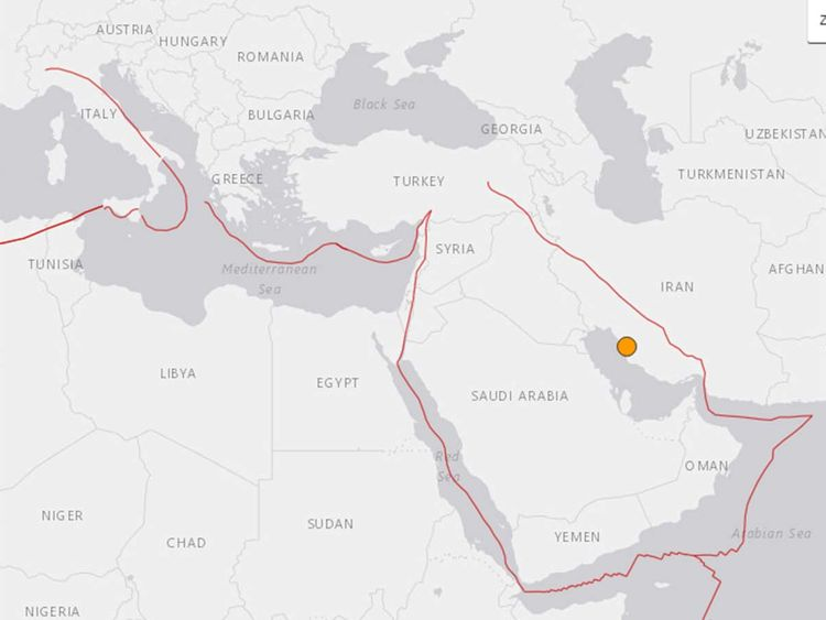 Iran earth quake near nuclear plant
