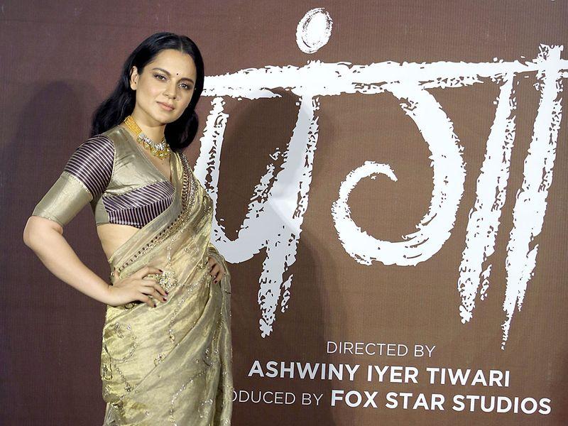 Kangana Ranaut during the trailer launch of their upcoming film 'Panga', in Mumbai