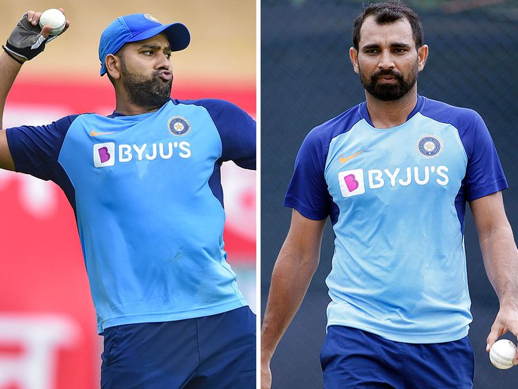 Rohit Sharma and Mohammad Shami