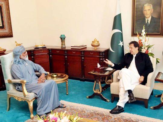 Sheikh Nahyan Bin Mubarak Al Nahyan, Minister for Tolerance UAE, called on Prime Minister Imran Khan in Islamabad on December 27, 2019.