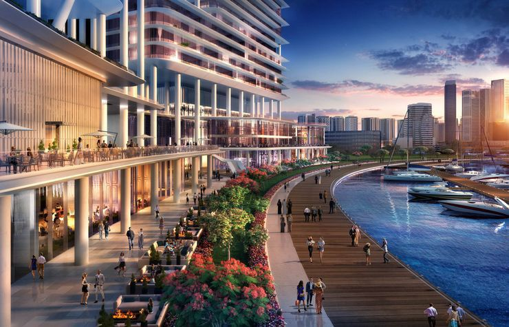 rendering of the Dorchester Dubai .Source  The Dorchester Collection-1577457341663