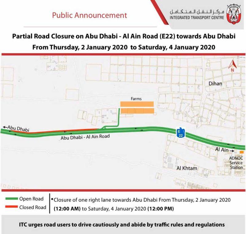 Abu Dhabi-Al Ain Road