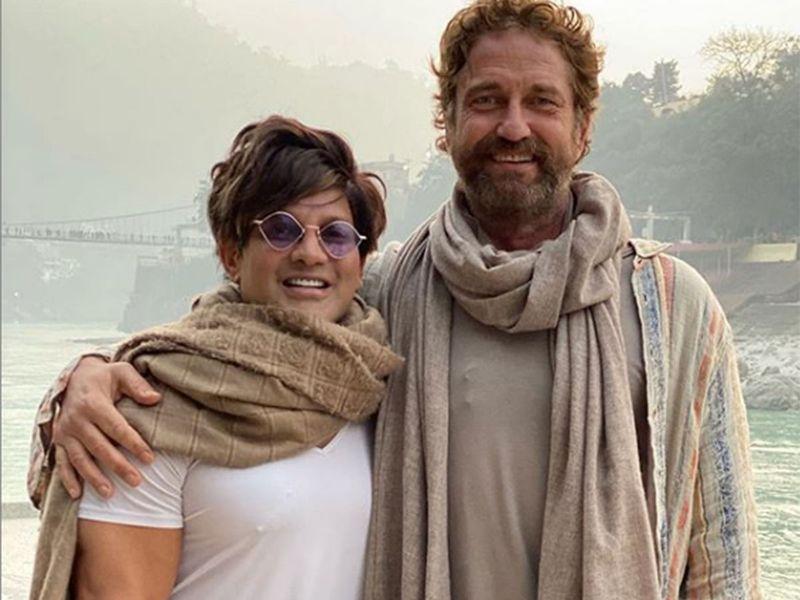 Gerard Butler with Yash Birla