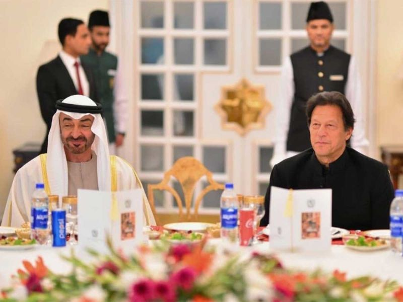 Mohamed Bin Zayed with Imran Khan