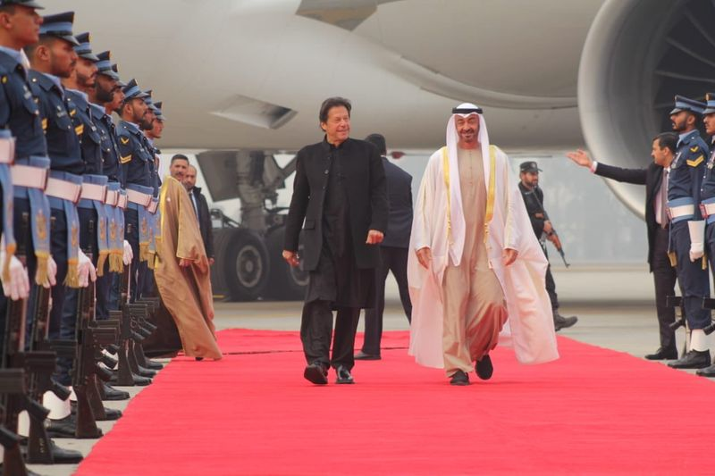 Sheikh Mohamed Bin Zayed in Pakistan