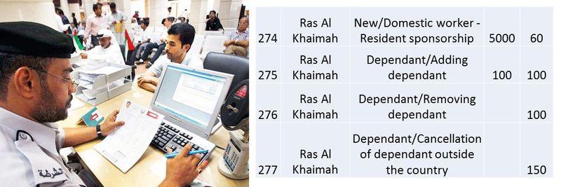 UAE residence visa fees 102
