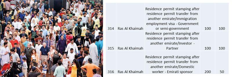 UAE residence visa fees 113