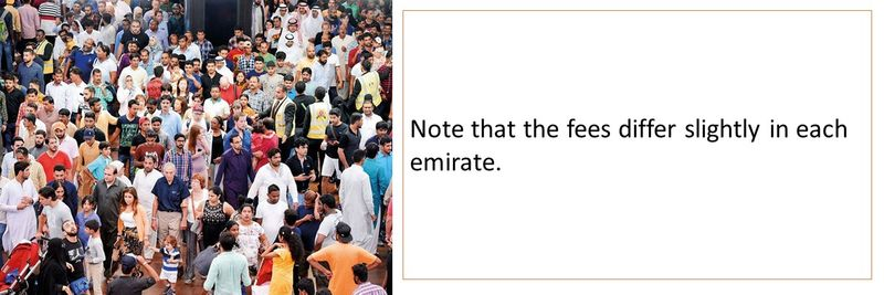 UAE residence visa fees 6