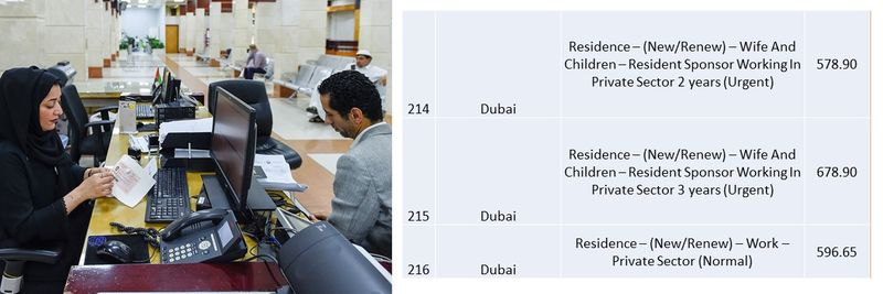 UAE residence visa fees 79