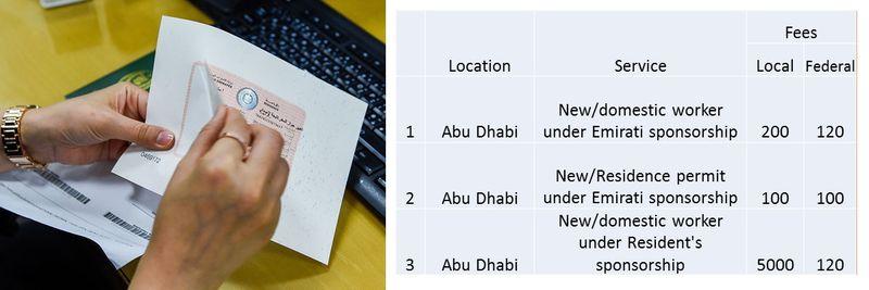 UAE residence visa fees 8