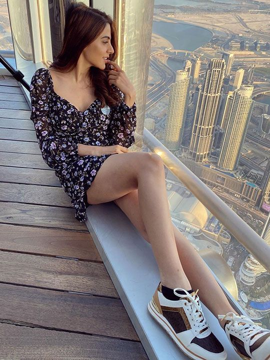 Tamil Actress Nikki Tamboli at Burj Khalifa's At The Top