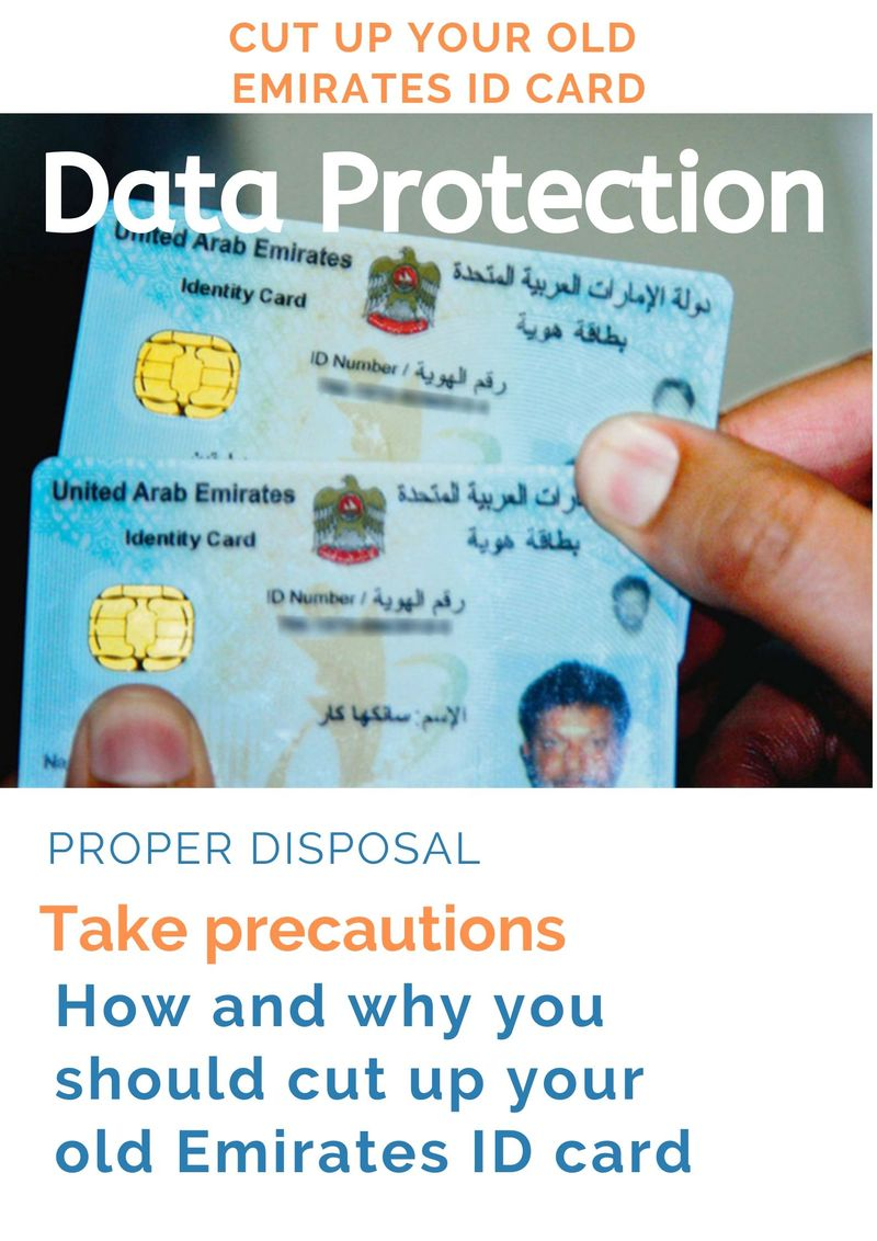 Emirates ID protection cut up