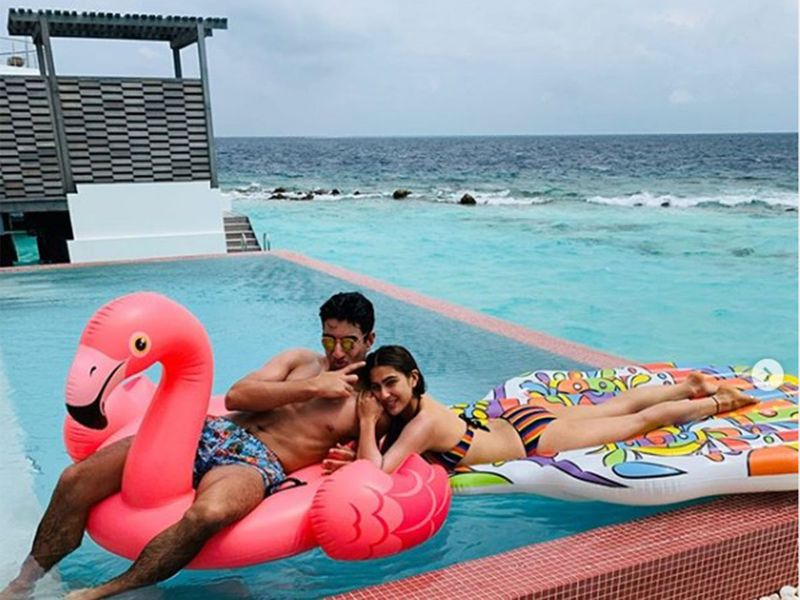 Sara Ali Khan is currently vacationing in Maldives with her Family
