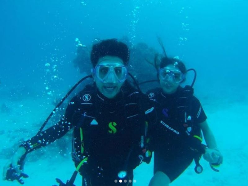 She Shared pictures from her deep-sea dive with brother Ibrahim Ali Khan.