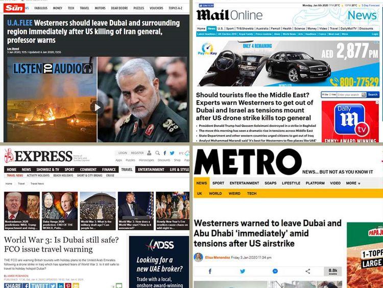 British media Dubai clickbait