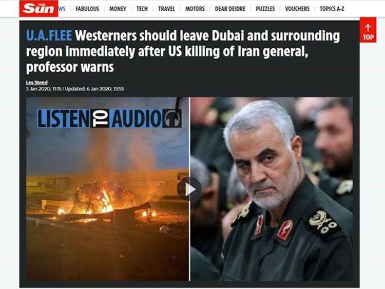 British media using Dubai as clickbait