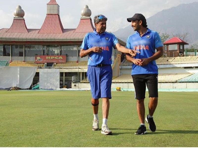 Ranveer seen here taking training sessions and interacting with Kapil Dev in Dharmsala.