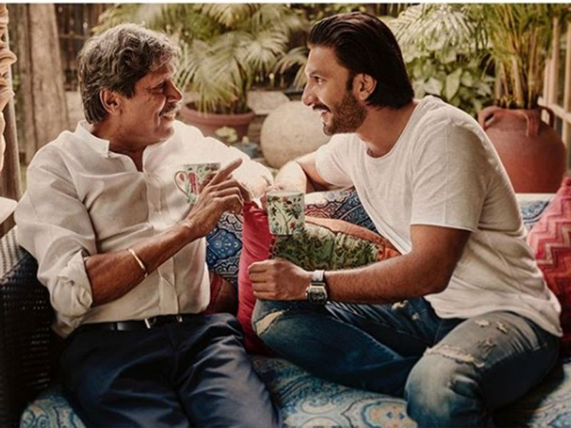 They have spent a lot of time together for the movie,'83, on the sets. And Ranveer Singh has spent time with Kapil Dev at his residence as well to further get into his character.