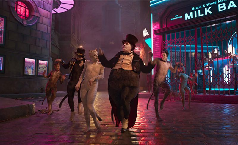 James Corden, Robbie Fairchild, Laurie Davidson, and Francesca Hayward in Cats (2019)-1578387383362