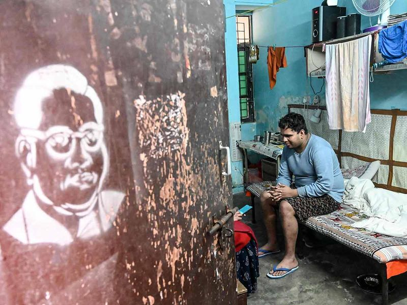 Surya Prakash, a visually challenged student of JNU