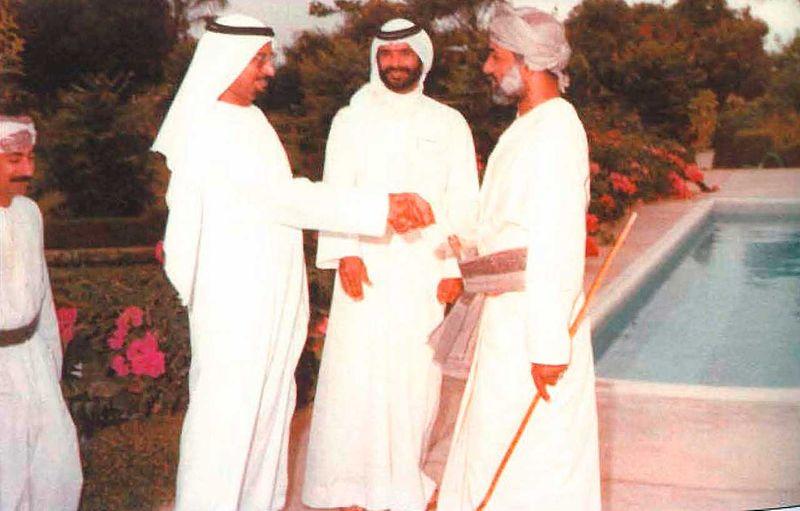 Al Saman with Sultan Qaboos