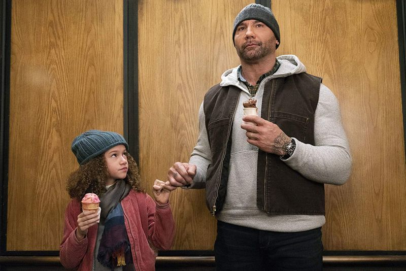 Dave Bautista and Chloe Coleman in My Spy-1578476829602