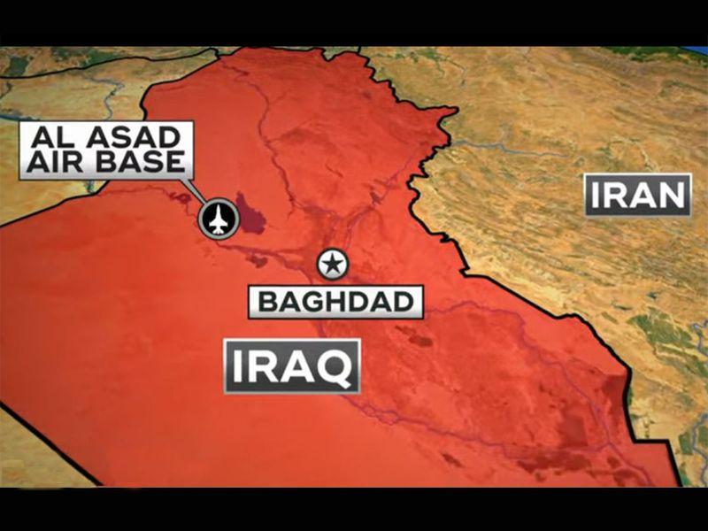 Iraq airbase map