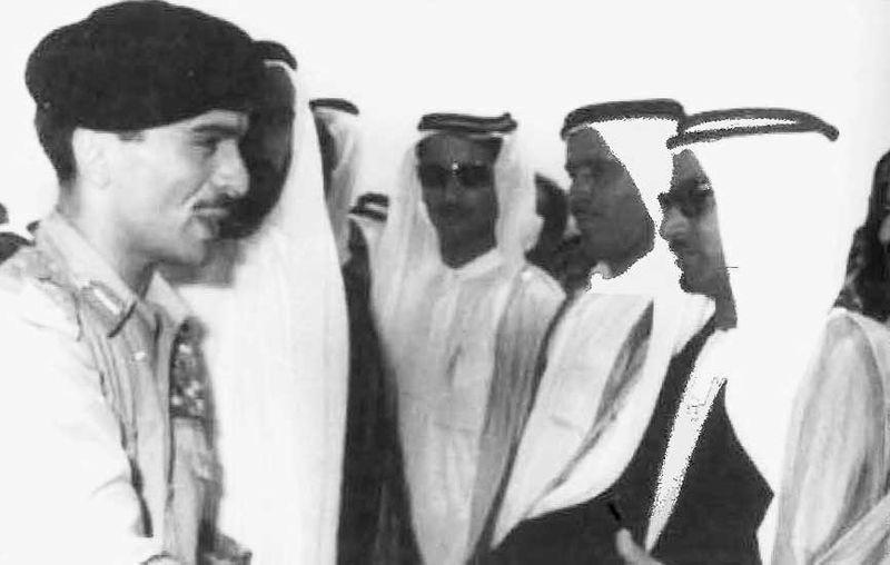 King Hussein with Salem Al Saman