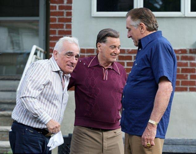 Robert De Niro, Al Pacino, and Martin Scorsese in The Irishman-1578469788645