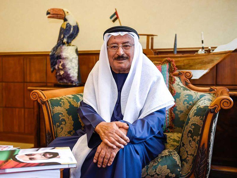 Salem Al Saman in his office in Abu Dhabi