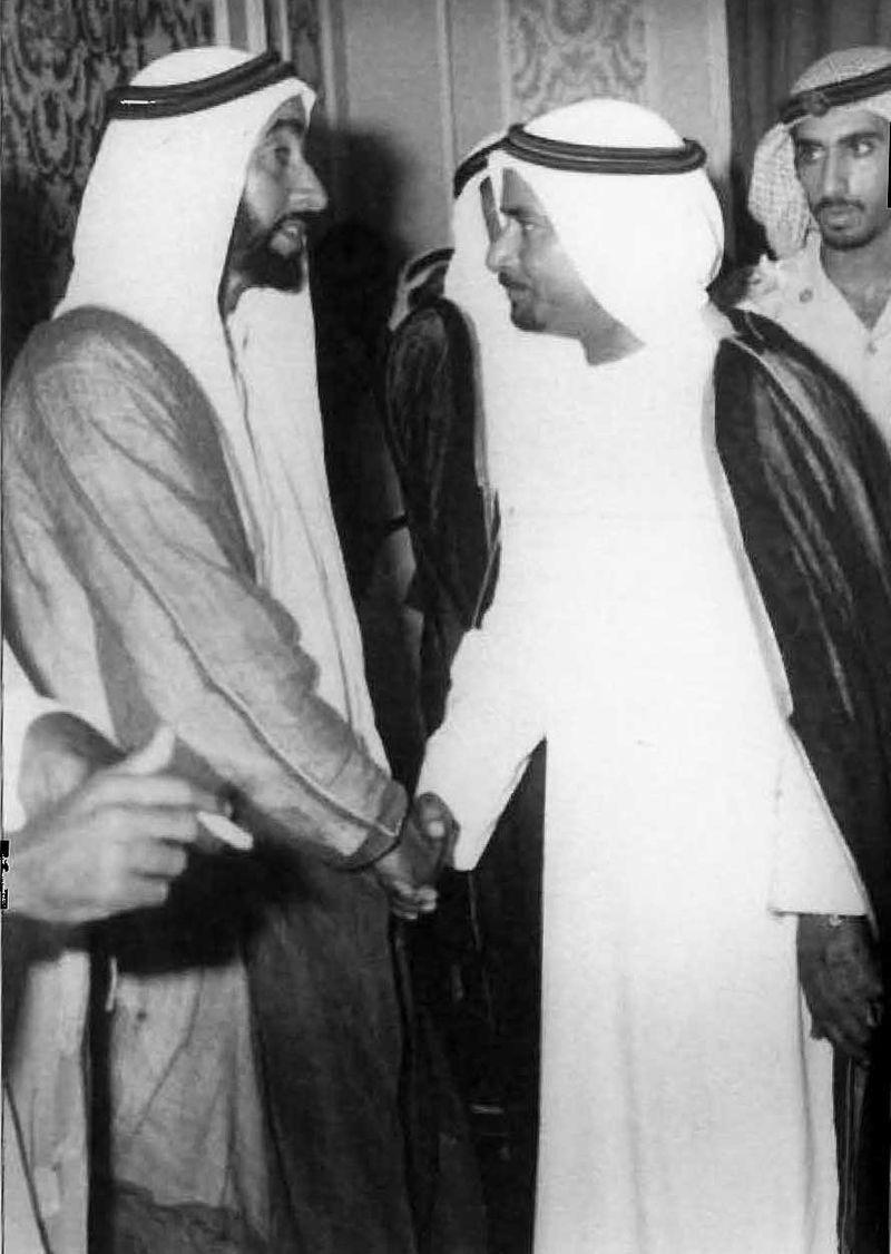 Salem Al Saman with Sheikh Zayed
