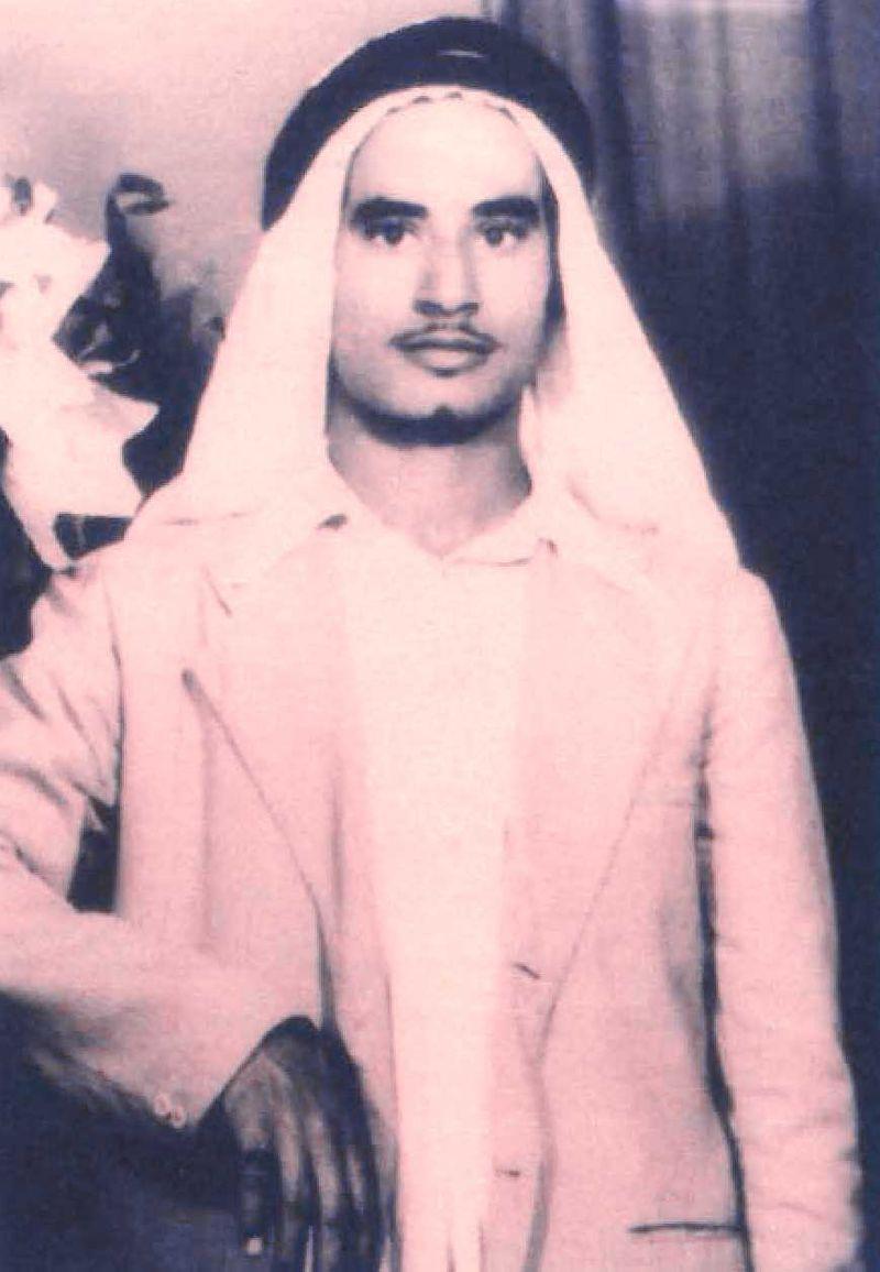 Salem Ibrahim Al Saman as a young man