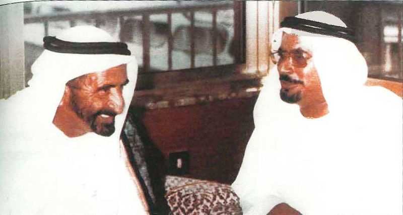 Sheikh Rashid with Salem Al Saman