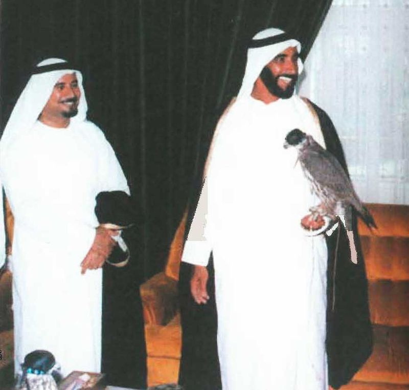 Sheikh Zayed and Al Saman in a rare official photograph
