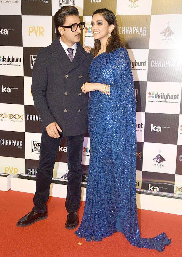 Actress Deepika Padukone with her actor husband Ranveer Singh