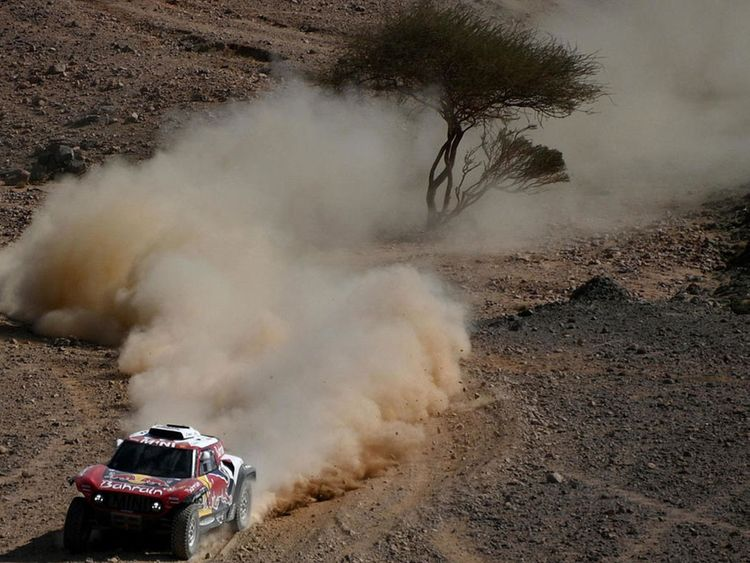 Carlos Sainz in action in Saudi Arabia in the Dakar Rally