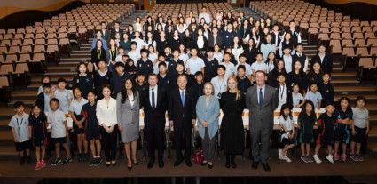 Former United Nations Secretary-General Ban Ki-moon delivers keynote speech at inaugural GWAMUN conference  (3)-1578573059374