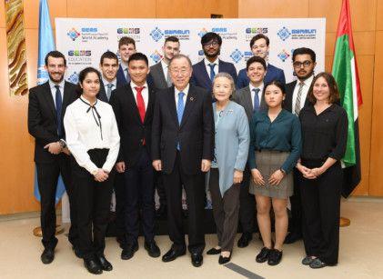 Former United Nations Secretary-General Ban Ki-moon delivers keynote speech at inaugural GWAMUN conference  (5)-1578573061091