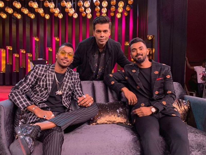 Hardik Pandya, Karan Johar and K.L. Rahul.