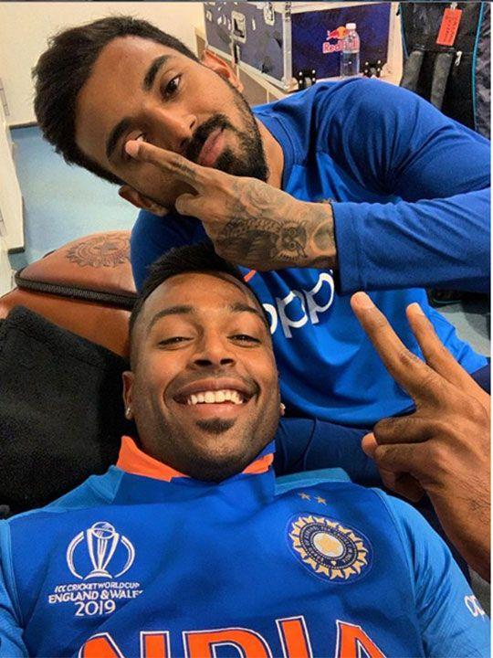 Hardik Pandya and K.L. Rahul.