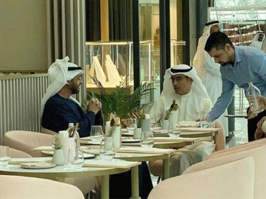 Mohammed Bin Zayed in Dubai Mall