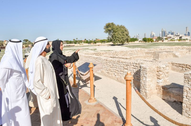 Sheikh Mohammed at Jumeirah Archaeological Site
