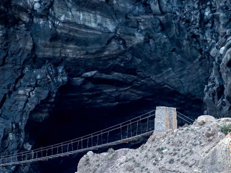 Shisper glacier in the Karakoram mountain range of Pakistan's Gilgit-Baltistan region